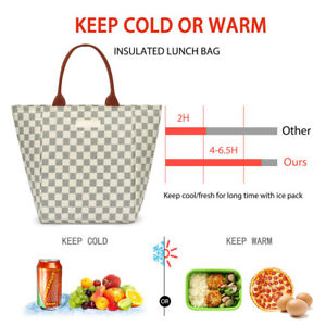 WODKEIS Portable Insulated Thermal Cooler Lunch Bag Food Tote Box for Women Men $16.99