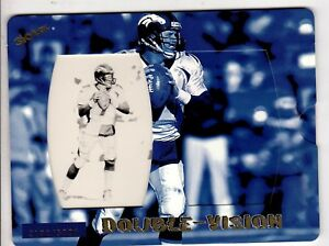 1998 Skybox Double Vision John Elway Denver Broncos Football Limited Edition $3.50
