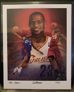 **LTD EDITION** LeBron James Lithograph Hand Signed And Numbered By Ben Teeter $100.00