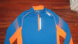 Saucony Drylete winter thermal running shirt mens L l s blue amp; coral $23.99