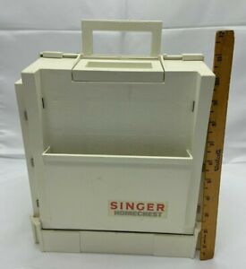 Singer Homechest Home Chest sewing organizer Fold Out Storage White VTG $35.00