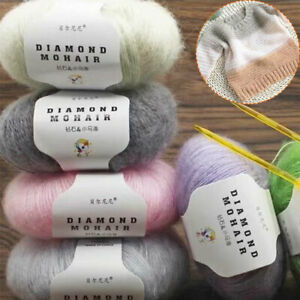 1 Roll 25g ball Mohair Yarn Skin friendly Wool Yarn DIY Knitting Sweater Scarf $2.09