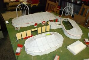 Circus Tent Set all 4 tents White complete ready to setup N Scale