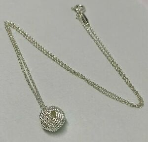 $175 Tiffany amp; Co Sterling Silver 925 Twist Knot Pendant on 16quot;inch Necklace