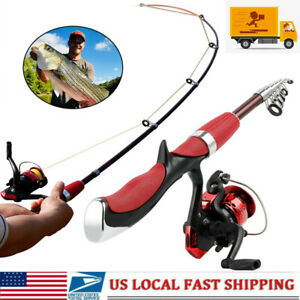 Telescopic Spinning Fishing Rodamp;Reels Set Combo Carbon Fishing Pole Tackle Tools