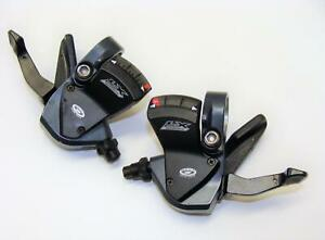 Nice Used Shimano Deore LX SL M570 Mega 3x9 Speed STI Shift Lever Pods