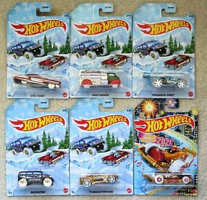 Hot Wheels 2020 HOLIDAY CARS SET OF 6 with 2021 Carbonator W3099 $17.99