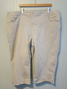 Coldwater Creek Womens Cropped Capri Pants Size 24W Casual Stretch
