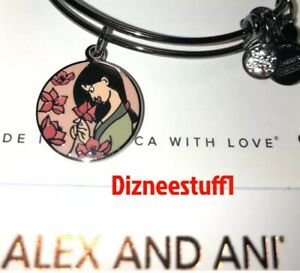 Disney 2020 Alex And Ani Mulan Live With Honor Black Bracelet $35.97