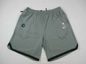 Minnesota Timberwolves Nike Shorts Mens Gray Dri Fit NEW Multiple Sizes $34.20