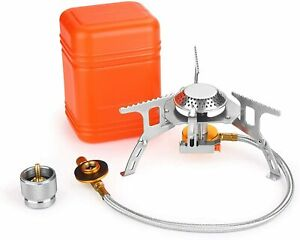 3700W Portable Backpacking Camping Gas Stove with Piezo Ignition Burner Case