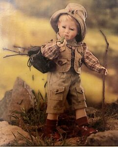 NIB Wimbledon Collection quot;Mikey Goes Campingquot; porcelain doll Gustave F. Wolff