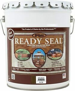 5 Gal Ready Seal 525 Dark Walnut Exterior Stain and Sealer For Wood – FREE SHIP $136.00