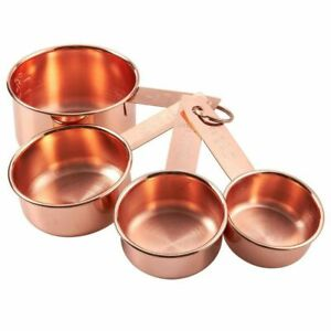 4 Pieces Stainless Steel Measuring Cup Set for Baking amp; Cooking Copper Plated $12.99