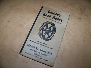 vintage chicago gear works book Machinist#x27;s book 1959
