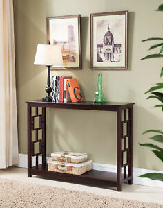 Kings Brand Furniture Wood Entryway Console Sofa Entryway Table Cherry $115.99