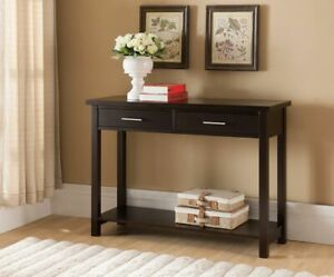 Kings Brand Furniture Wood Entryway Console Sofa Occasional Table Espresso $169.99