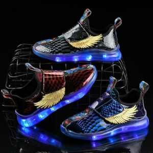 Childrens Lighted Sneaker Boys Girls Led Sneakers Shoes With Lighted Sole $30.19