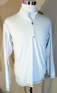 Champion 1 4 Zip Long Sleeve Dry Fit Shirt Size L Running Mock Loose Fit EUC SS $15.99