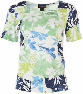 Alfred Dunner Womens Floral Square Neck Top $13.88