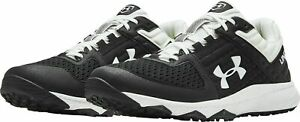 Under Armour UA Yard Trainer Mens Turf Baseball Shoes Black White 3021935 001 $39.99