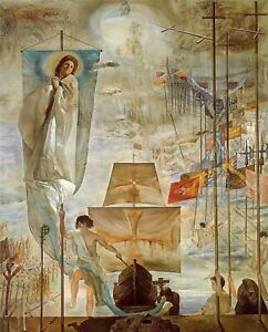 Print Discovery of American by Christopher Columbus 1959 by Salvador Dali $3.79