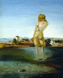 Print Girl with Curls 1926 by Salvador Dali $7.59