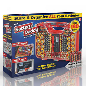 Battery Daddy Organizer and Storage System Case with Tester Home Tool Set $23.38
