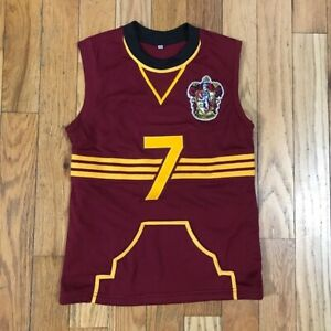 Custom Harry Potter Womens Gryffindor Quidditch Jersey Hand Stitched Size XS $39.99