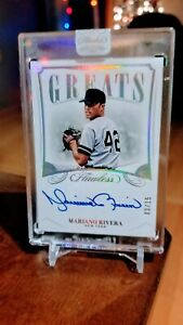 Mariano Rivera 2020 Panini Flawless Greats Encased Auto Silver Holo 15 $189.97