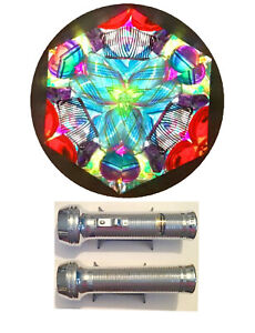 Stress Free Kaleidoscope made from a Recycled Vintage Ray O Vac Flashlight #46