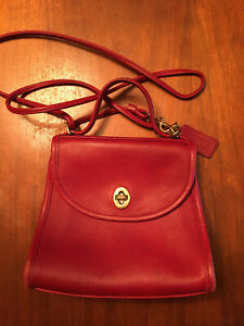 Coach Purse Small Red Authentic