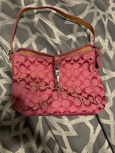 Pink Coach Purse Used