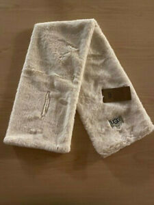Ugg Australia Faux Fur Cream Scarf with Loop Hole New with Tags $75.00