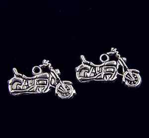 Free Ship 52pcs Tibetan Silver Motorcycle Charms For Jewelry Making 24x13mm $7.99