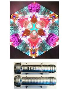 Stress Free Kaleidoscope made from a Recycled Vintage Flashlight body #60