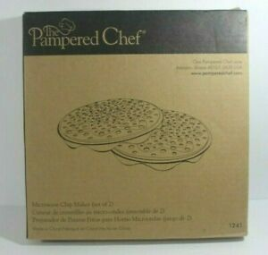 NEW Pampered Chef chip maker 1241 silicone microwave potato zucchini Keto snack $17.77
