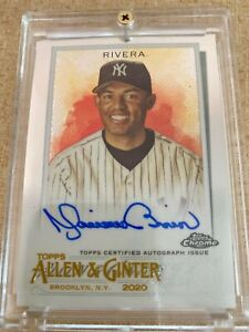 2020 Topps Allen amp; Ginter Chrome Mariano Rivera Auto New York Yankees HOF $299.99