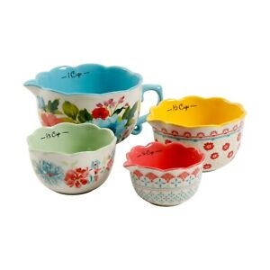 The Pioneer Woman Breezy Blossom Stackable 4 Piece Measuring Bowl Set of 4 New $27.50