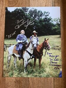Gettysburg Signed Photo By Sheen And Berenger Portraying Lee And Longstreet $135.00