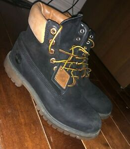 Timberland Boots 6 Inch A19MW Premium Brown Black Shoes Size 8.5M Stylish