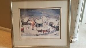 "Will Moses ""Snowy Valley"" Lithograph Signed And Numbered 572 1000 $227.50"
