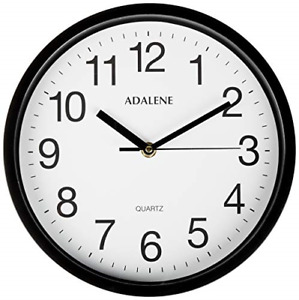 Adalene Wall Clocks Battery Operated Non Ticking 10 Inch Completely Silent $14.52