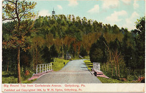 1906 Gettysburg PA Old Roadway Wolf Hill W.H. Tipton Civil War UDB RARE Postcard $24.99