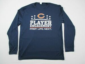 Chicago Bears Sport Tek Long Sleeve Shirt Men#x27;s Navy Poly Used L #23