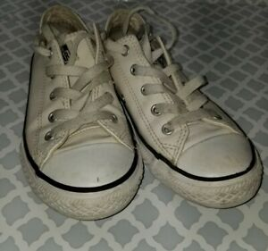 Kids Converse White Leather Sizes 1 1 2 $10.99