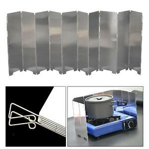 Folding Stove Windscreen Outdoor Portable Folding 10 Plate Camping Cooking