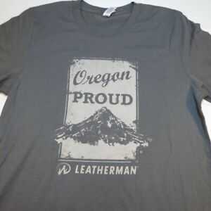 NEW NWT OREGON PROUD LEATHERMAN LEATHER MAN MULTI TOOL KNIFE TEE T SHIRT Mens S