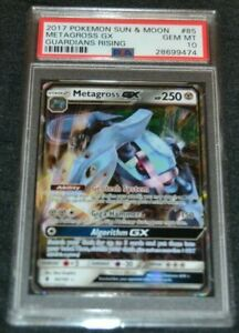 Holo Foil Metagross GX # 85 145 Guardians Rising Pokemon Cards PSA 10 GEM MINT $249.95