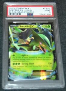 Holo Foil Sceptile EX # XY53 XY Black Star Promo Pokemon Cards PSA 9 MINT $99.95